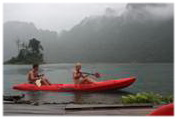 Canoeing at Chiaw Lan Lake Khao Sok National Park